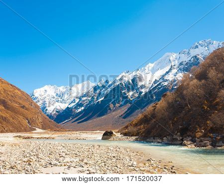 Langtang Valley Himalayan Mountain Range River H