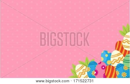 Easter egg greeting card style vector collection stock