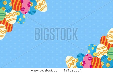 Background of easter egg theme vector collection stock