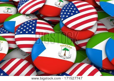 Usa And Equatorial Guinea Badges Background - Pile Of American And Equatorial Guinean Flag Buttons 3