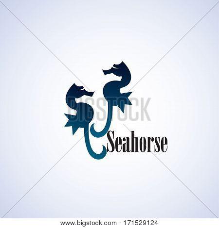 seahorse ideas design vector illustration on background