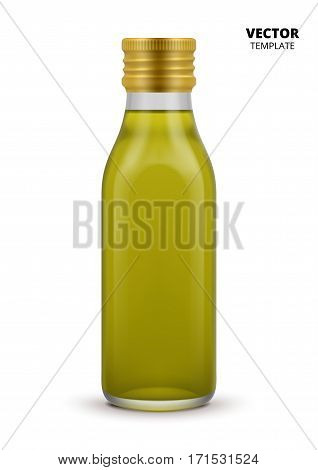 Olive oil bottle vector isolated on white background. Plastic bottle mockup for design presentation ads. Olive oil bottle mockup. Olive oil bottle design. Soybean oil bottle or sunflower oil bottle.