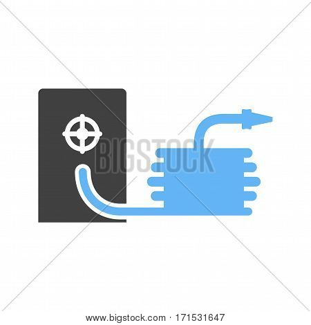 Hose, fire, water icon vector image. Can also be used for firefighting. Suitable for use on web apps, mobile apps and print media.