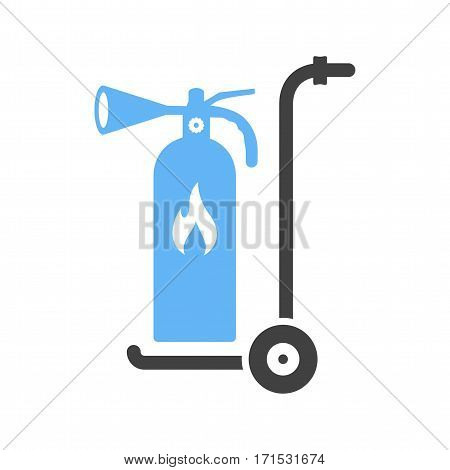 Moveable, extinguisher, firefighter icon vector image. Can also be used for firefighting. Suitable for use on web apps, mobile apps and print media.