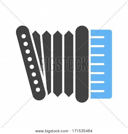 Accordion, red, music icon vector image. Can also be used for oktoberfest. Suitable for web apps, mobile apps and print media.