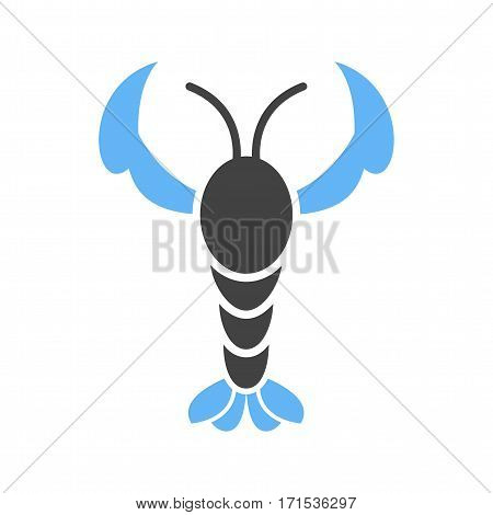 Lobster, seafood, cooked icon vector image. Can also be used for oktoberfest. Suitable for mobile apps, web apps and print media.