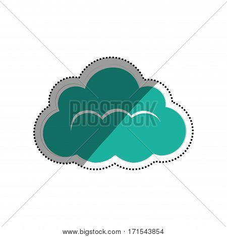 Cloud computing technology icon vector illustration graphic design