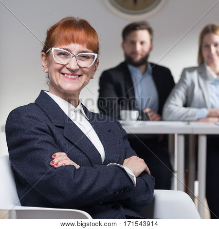 Elderly Smiling Businesswoman