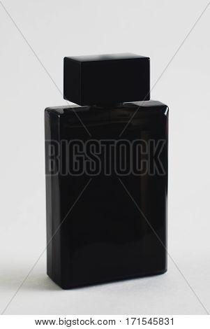 Black Perfume Bottle On White ,