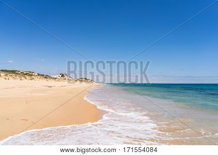 Belvidere Beach is a travellers paradise in the Leschenault Peninsula in the South West of Western Australia near the town of Bunbury - Australian beaches.