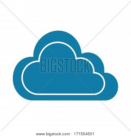 color silhouette with cloud contour and white background vector illustration