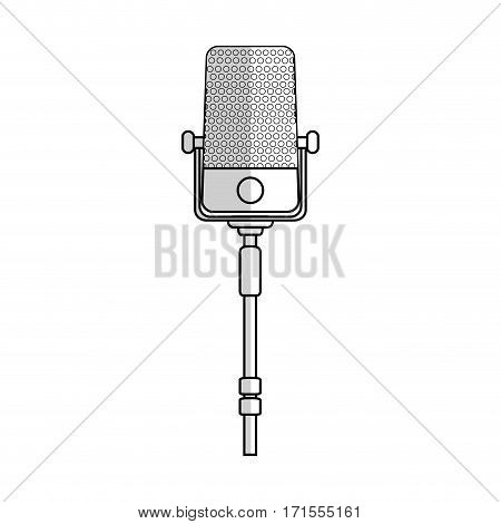 microphone icon over white background. vector illustration