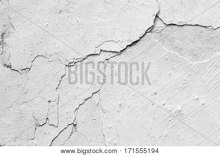 Detail of the cracked stucco - grunge texture