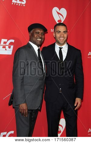 LOS ANGELES - FEB 10:  Booker T, son Ted Jones at the Musicares Person of the Year honoring Tom Petty at Los Angeles Convention Center on February 10, 2017 in Los Angeles, CA