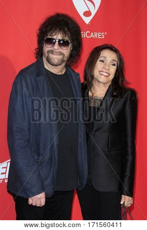 LOS ANGELES - FEB 10:  Jeff Lynne, Sani Kapelson Lynne at the Musicares Person of the Year honoring Tom Petty at Los Angeles Convention Center on February 10, 2017 in Los Angeles, CA