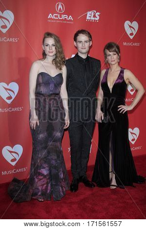 LOS ANGELES - FEB 10:  Roseanna Brown, Jonathan Brown, Alanna Brown at the Musicares Person of the Year honoring Tom Petty at Los Angeles Convention Center on February 10, 2017 in Los Angeles, CA