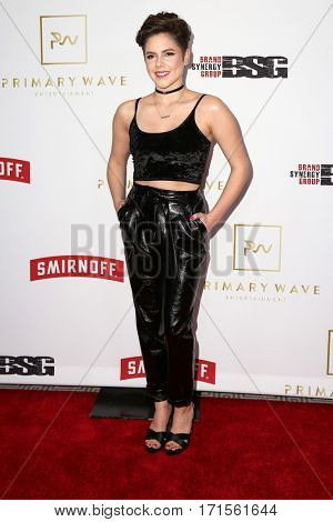 LOS ANGELES - FEB 11:  Caly Bevier at the Primary Wave 11th Annual Pre-GRAMMY Party at The London on February 11, 2017 in West Hollywood, CA