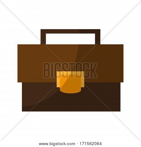 business briefcase icon over white background. colorful design. vector illustration