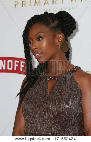 LOS ANGELES - FEB 11:  Brandy, Brandy Norwood at the Primary Wave 11th Annual Pre-GRAMMY Party at The London on February 11, 2017 in West Hollywood, CA