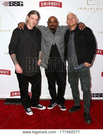 LOS ANGELES - FEB 11:  Christian Olde Wolbers, Sen Dog, Billy Graziadei at the Primary Wave 11th Annual Pre-GRAMMY Party at The London on February 11, 2017 in West Hollywood, CA