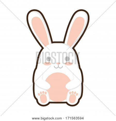 cartoon easter bunny decoration vector illustration eps 10