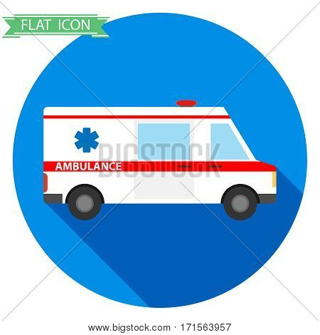 Ambulance, ambulance icon, medical transportation, medicine, first aid. Flat design, vector illustration, vector.