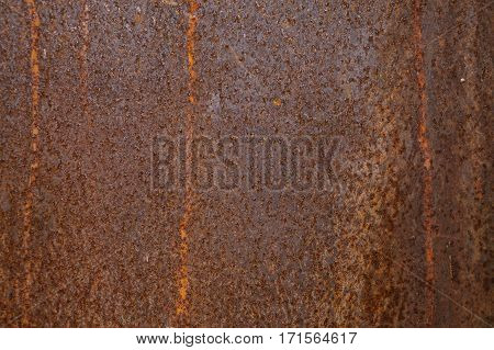 Rusted metal background and texture. Grunge old rusty scratched surface texture. Background - old metal surface. Abstract background and texture for designers.
