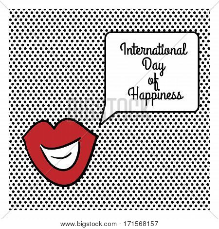 Vector illustration of International Day of Happiness.