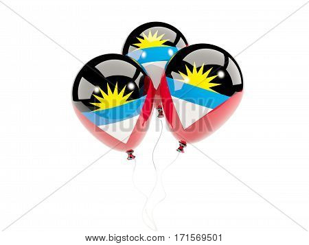 Three Balloons With Flag Of Antigua And Barbuda