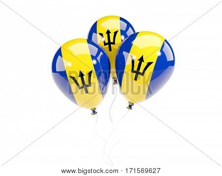 Three Balloons With Flag Of Barbados