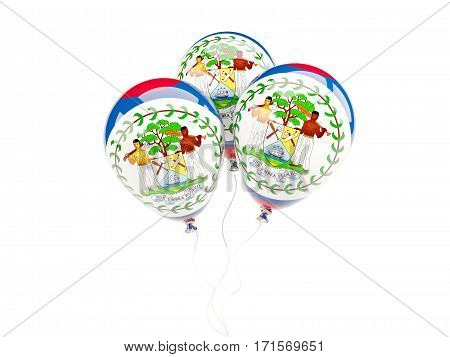 Three Balloons With Flag Of Belize