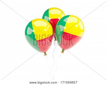 Three Balloons With Flag Of Benin