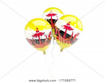 Three Balloons With Flag Of Brunei