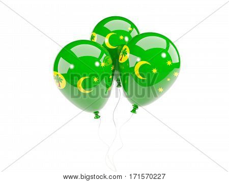 Three Balloons With Flag Of Cocos Islands