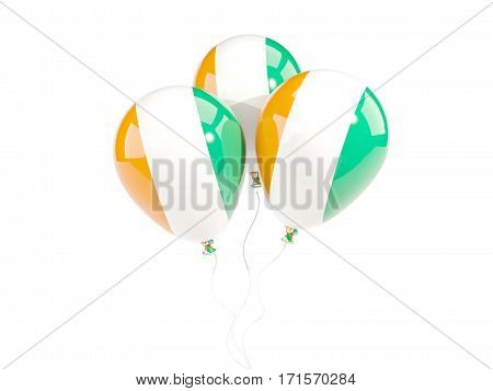Three Balloons With Flag Of Cote D Ivoire