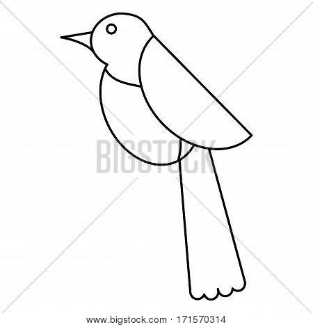 bird dove fauna fly icon thin line vector illustration eps 10