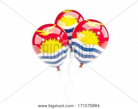 Three Balloons With Flag Of Kiribati