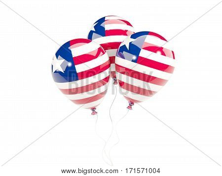 Three Balloons With Flag Of Liberia