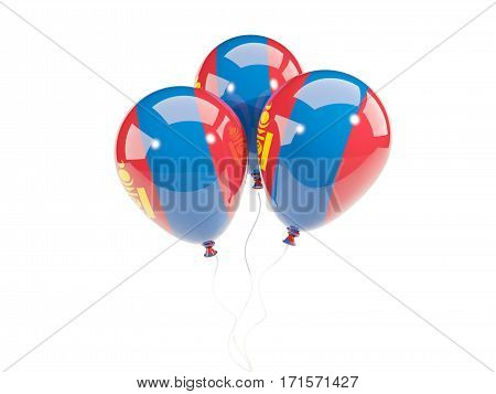 Three Balloons With Flag Of Mongolia