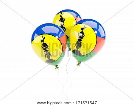 Three Balloons With Flag Of New Caledonia