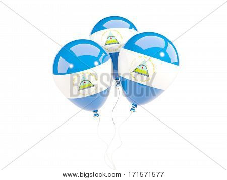 Three Balloons With Flag Of Nicaragua