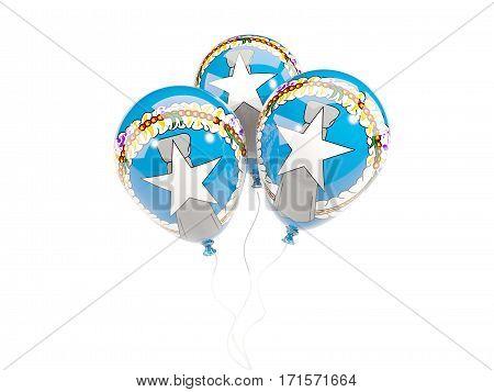 Three Balloons With Flag Of Northern Mariana Islands