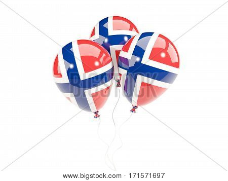 Three Balloons With Flag Of Norway