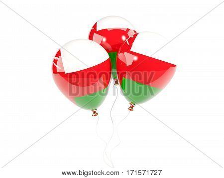 Three Balloons With Flag Of Oman
