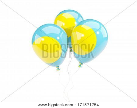 Three Balloons With Flag Of Palau
