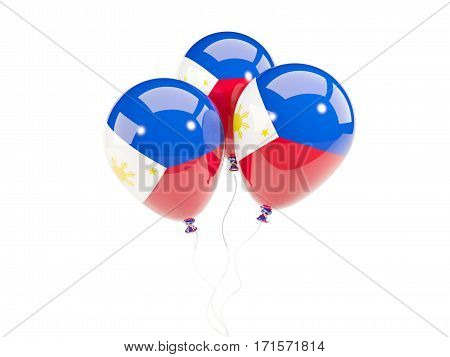 Three Balloons With Flag Of Philippines