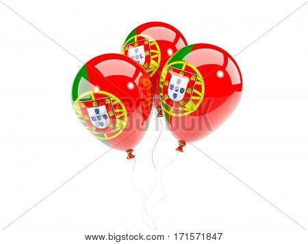 Three Balloons With Flag Of Portugal