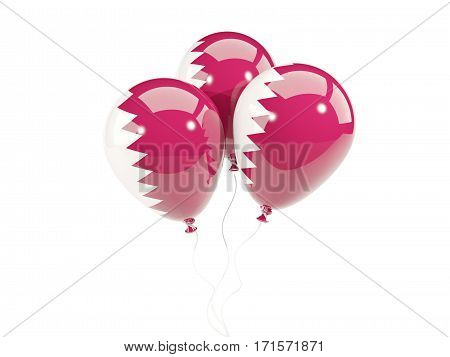 Three Balloons With Flag Of Qatar