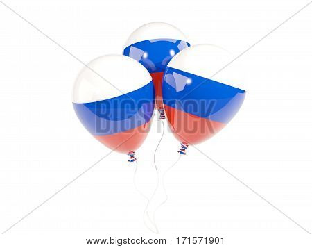 Three Balloons With Flag Of Russia