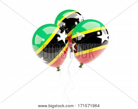 Three Balloons With Flag Of Saint Kitts And Nevis